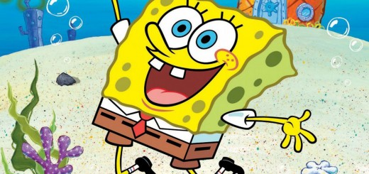 wallpaper hd de Bob Esponja saltando