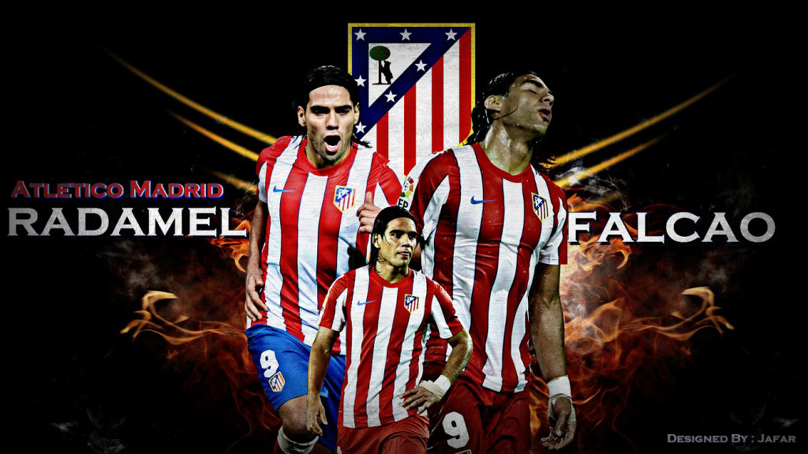 wallpaper Falcao, atletico madrid