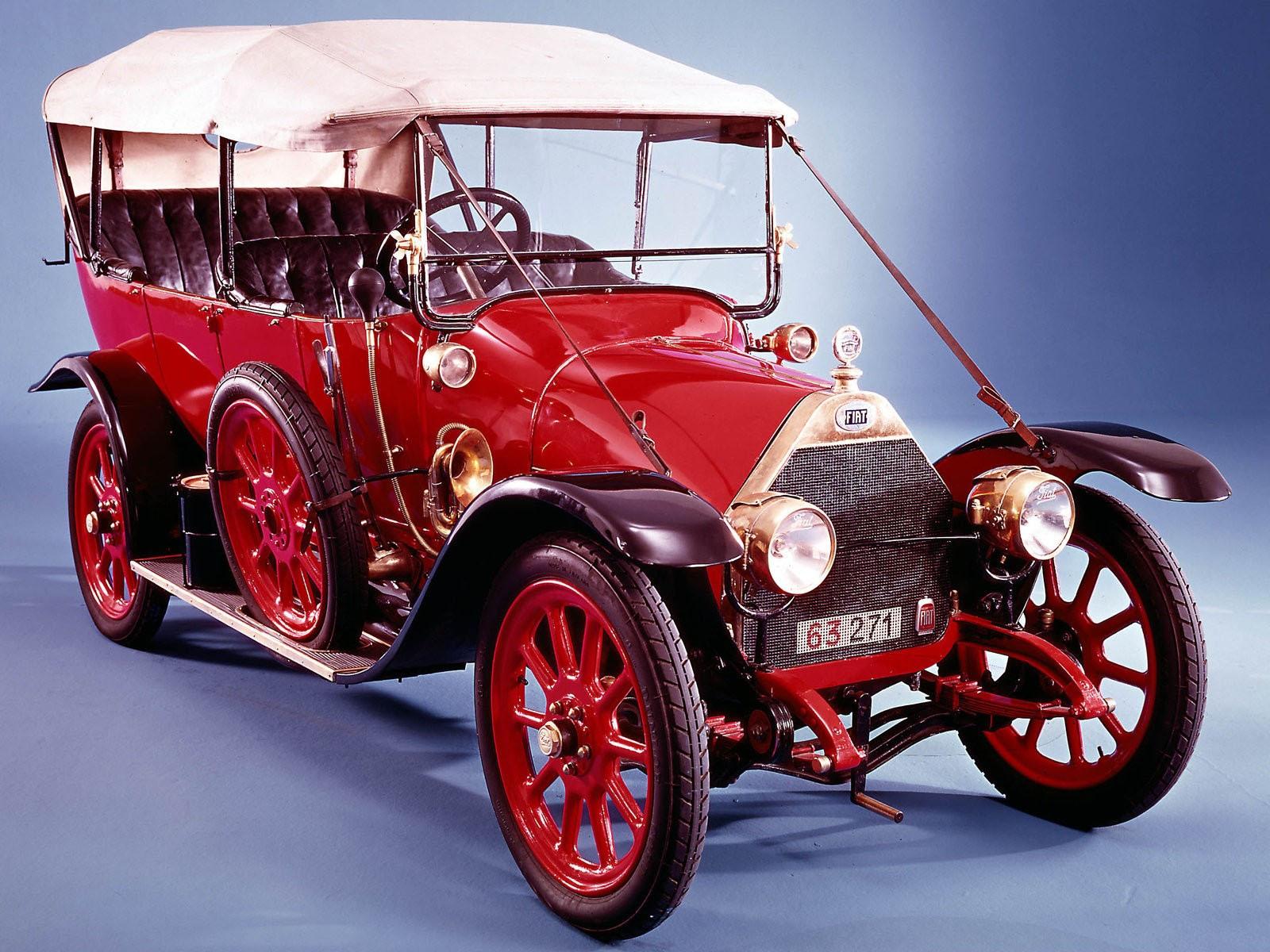 wallpaper de coche antiguo Fiat primeros siglo xx