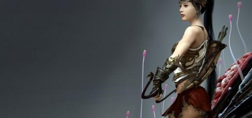 wallpaper de una guerrera de fantasia