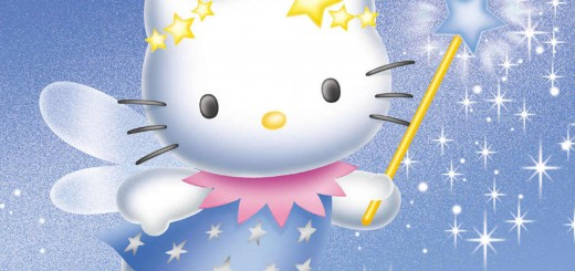 Wallpaper de Hello Kitty con varita magica