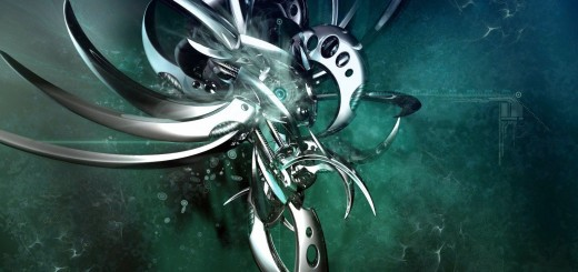 wallpaper 3d de in insecto metalico