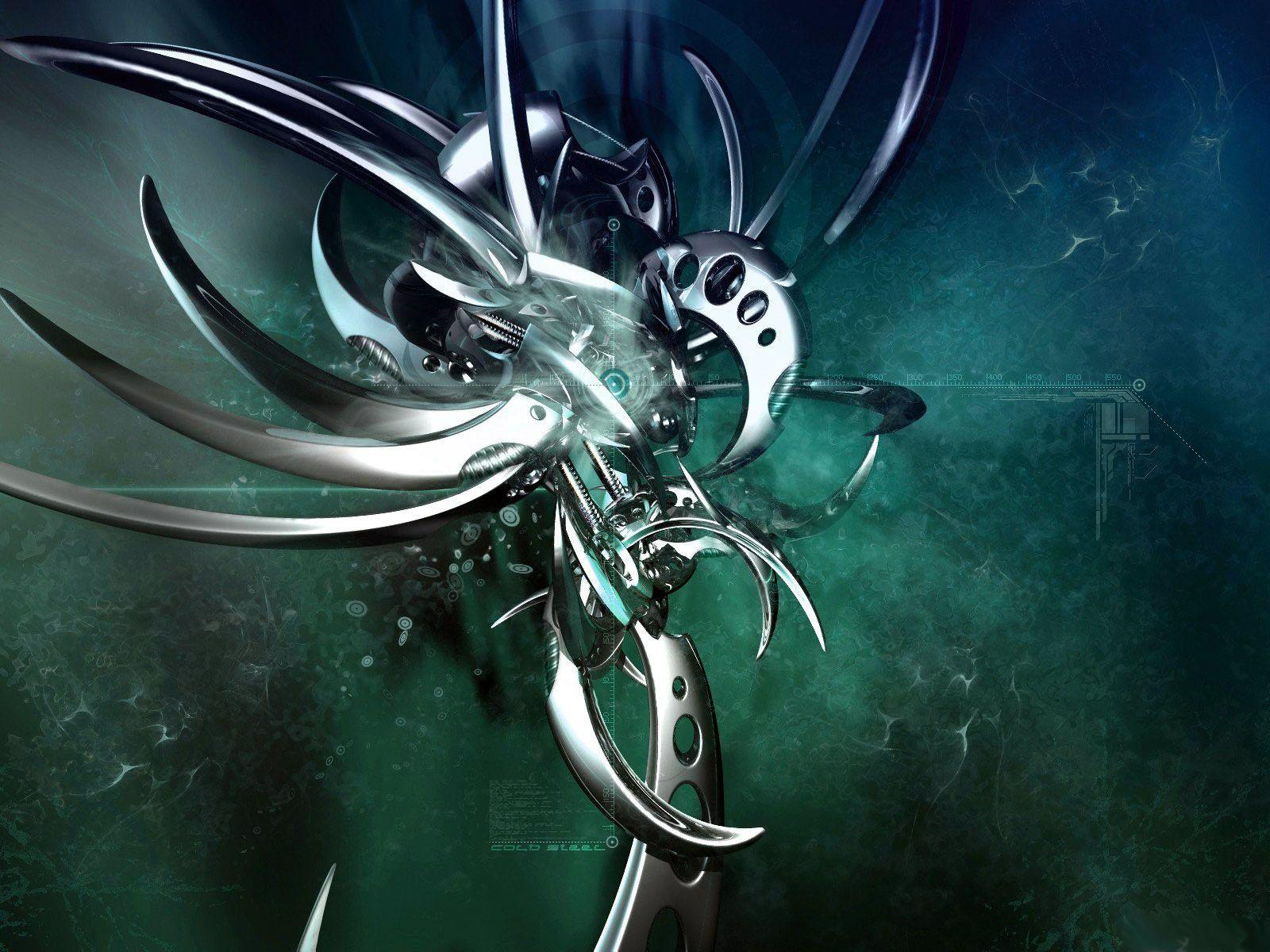 wallpaper 3d de in insecto metalico