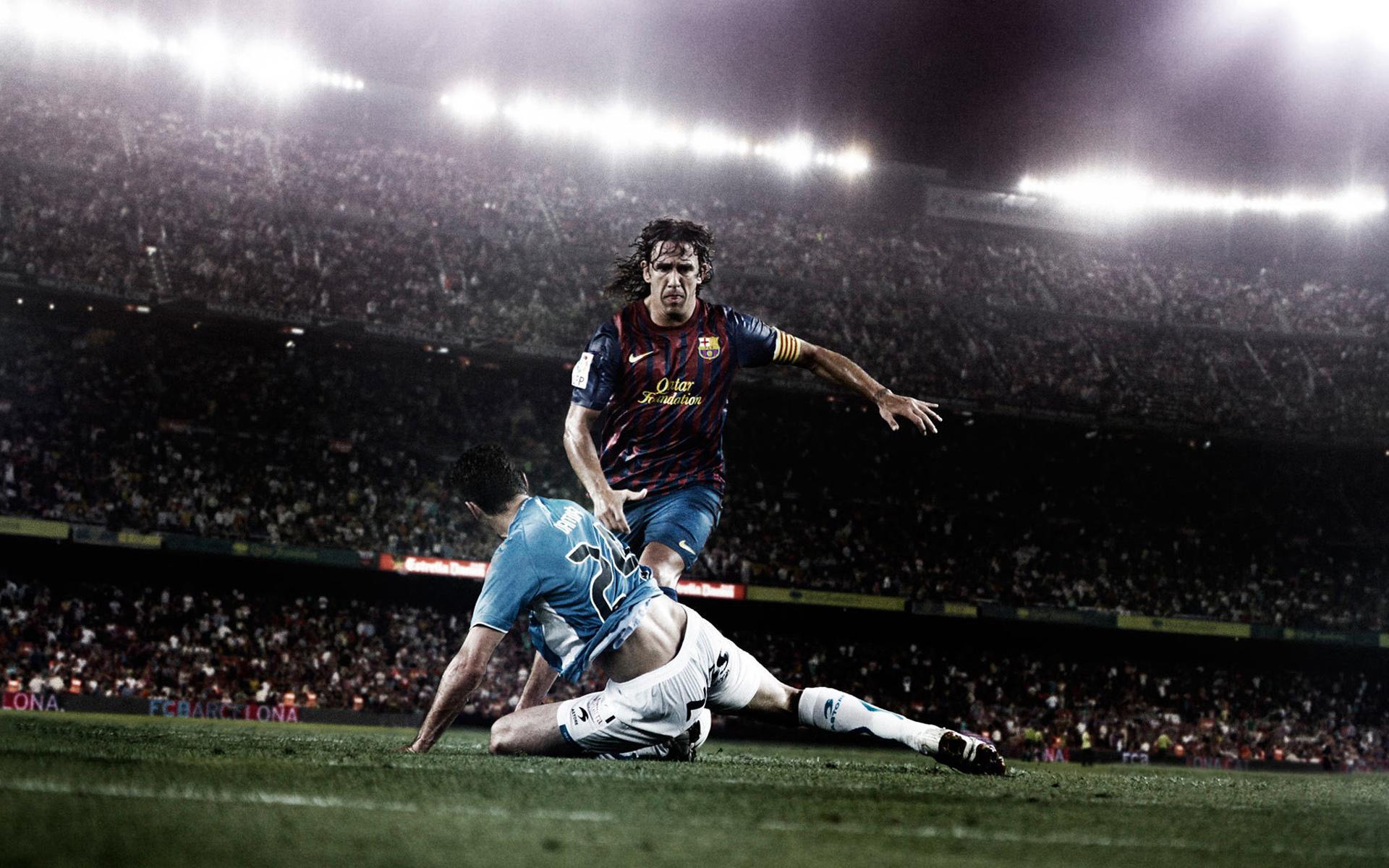 wallpaper de Puyol, jugador del <strong/>fc. barcelona