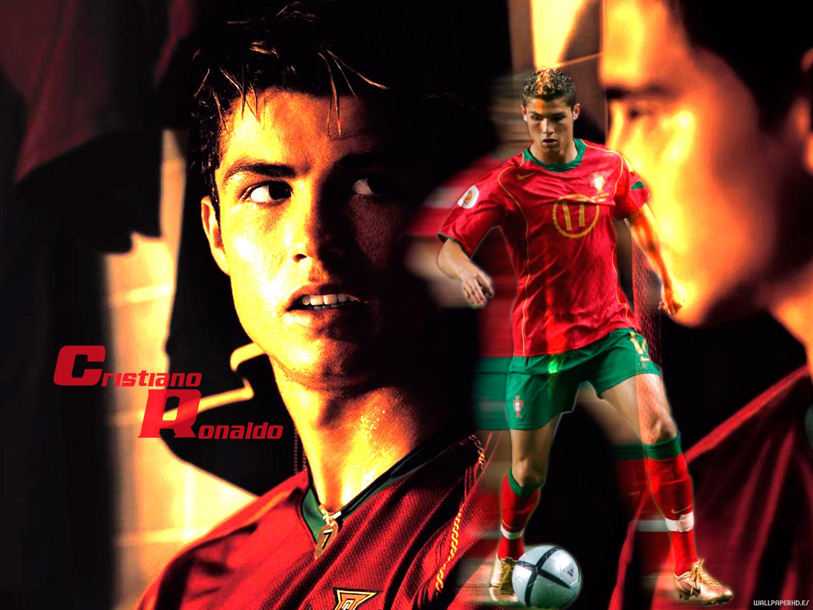 wallpaper de Cristiano ronaldo con camiseta de portugal