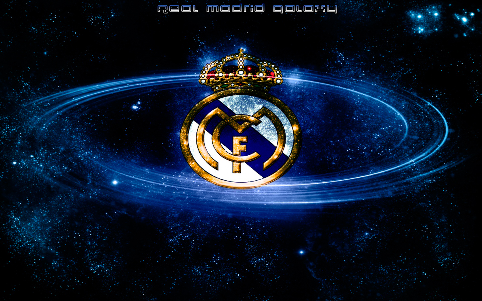 wallpaper escudo real madrid en la galaxia