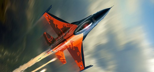 wallpaper hd de un F16 fighter volando