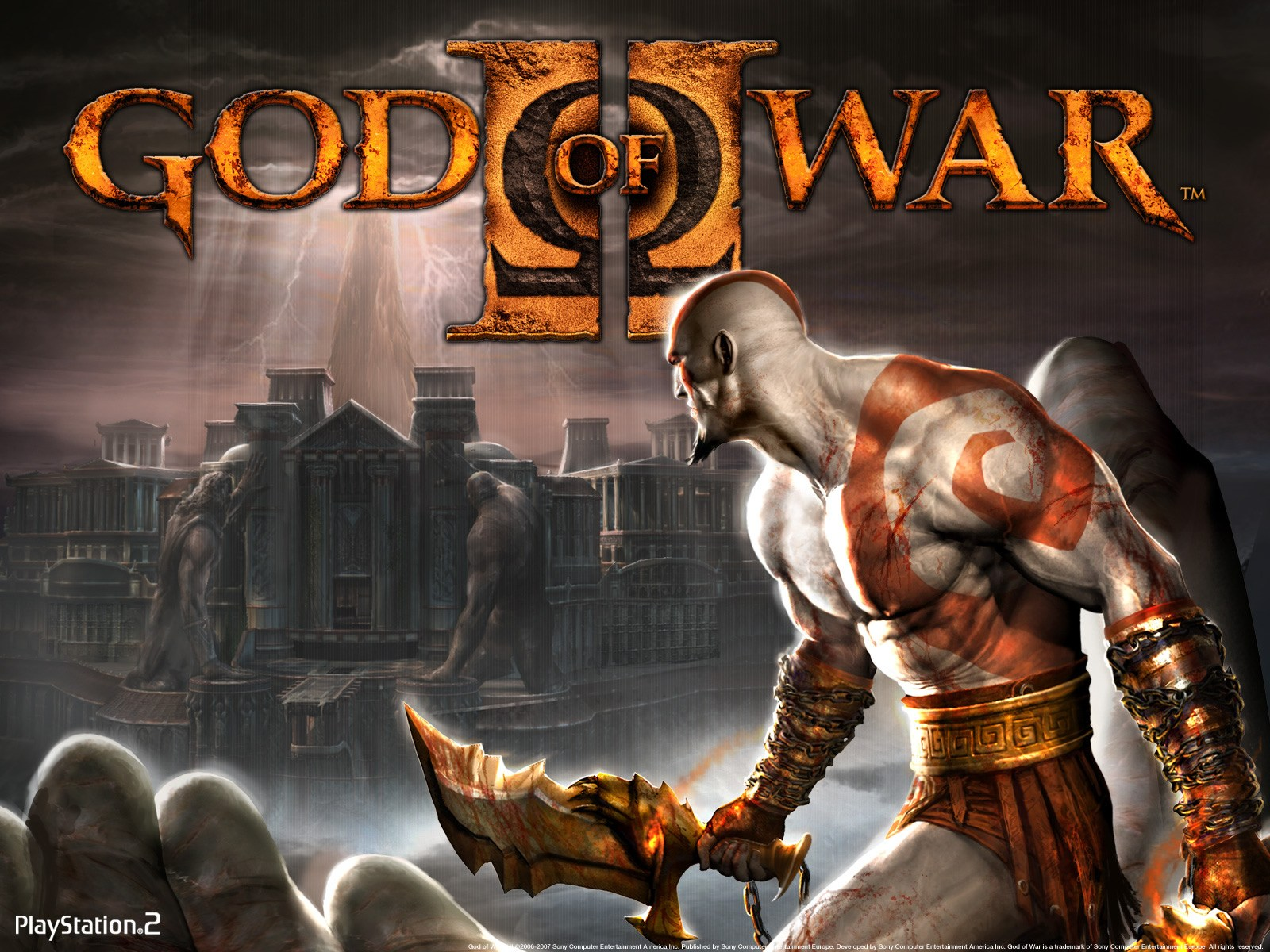 wallpaper del juego god of war 2