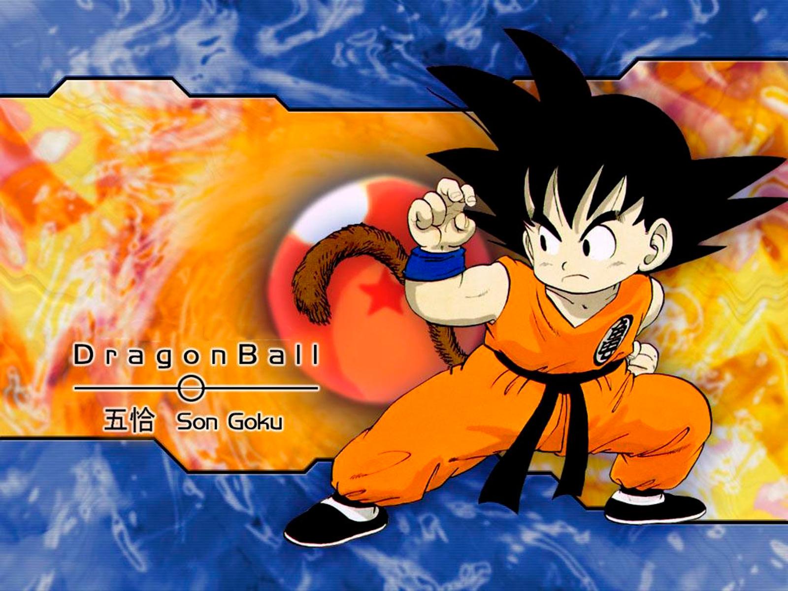 fondo de pantalla de goku protagonista de dragon ball