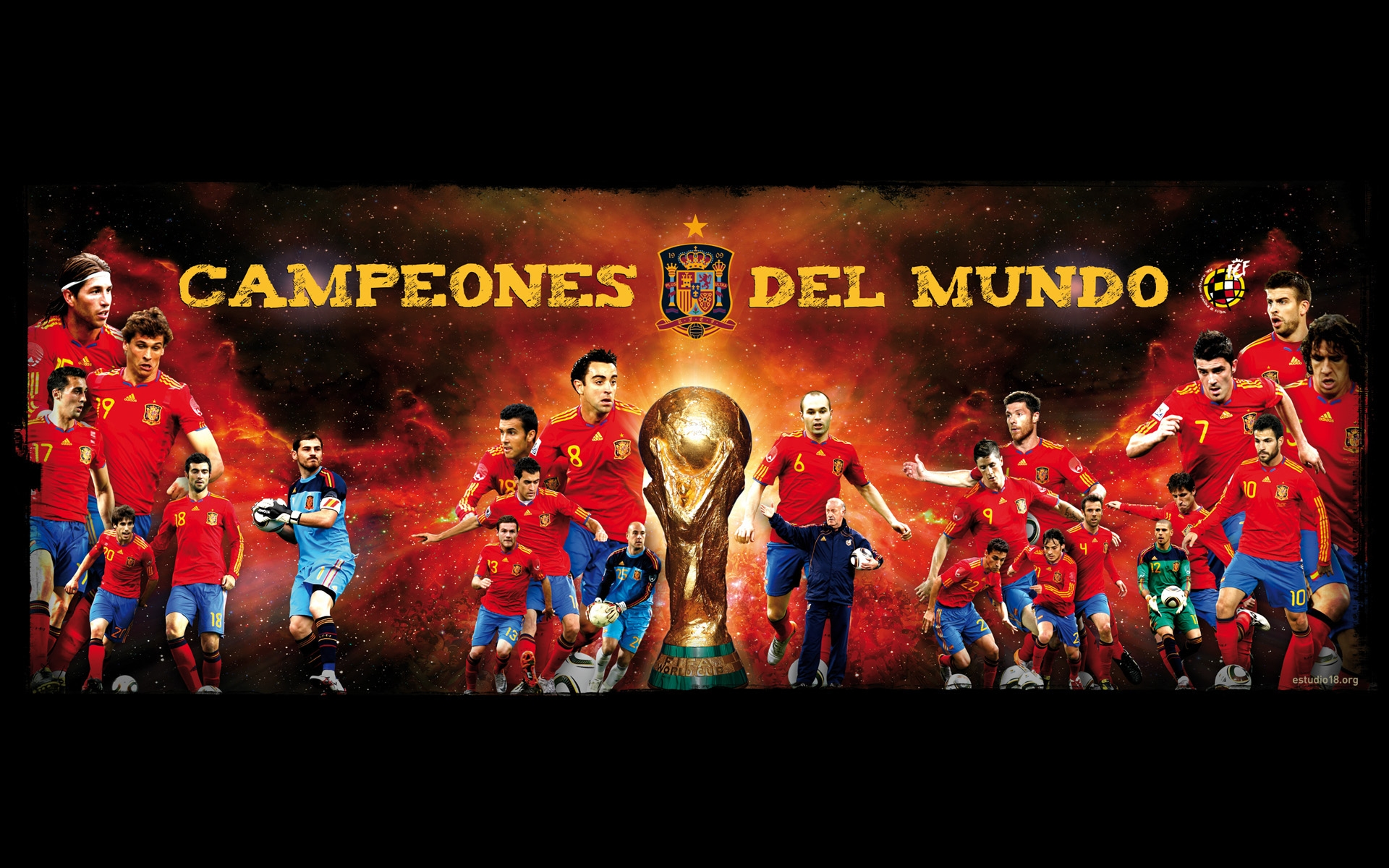 wallpaper hd seleccion españa campeones del mundo