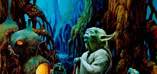 wallpaper con el maestro yoda y animales