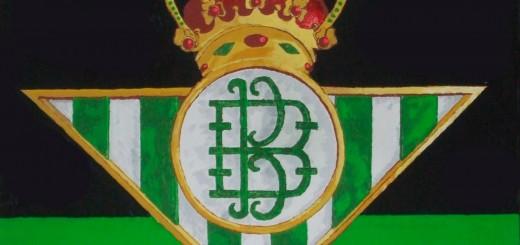 escudo del betis pintado al oleo