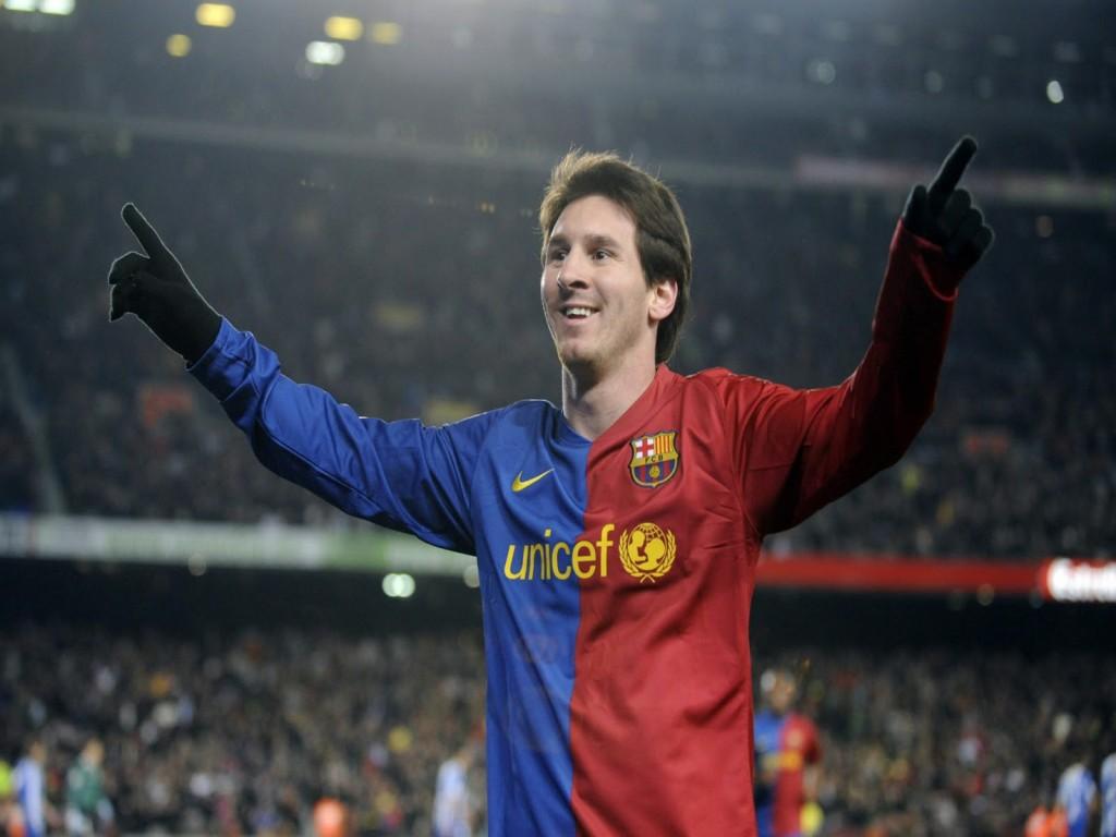 Leo Messi con el Barcelona en el Nou Camp