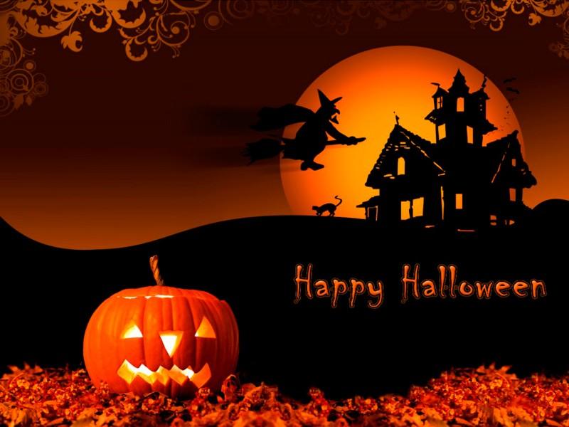 wallpaper hd de halloween, calabaza incluida