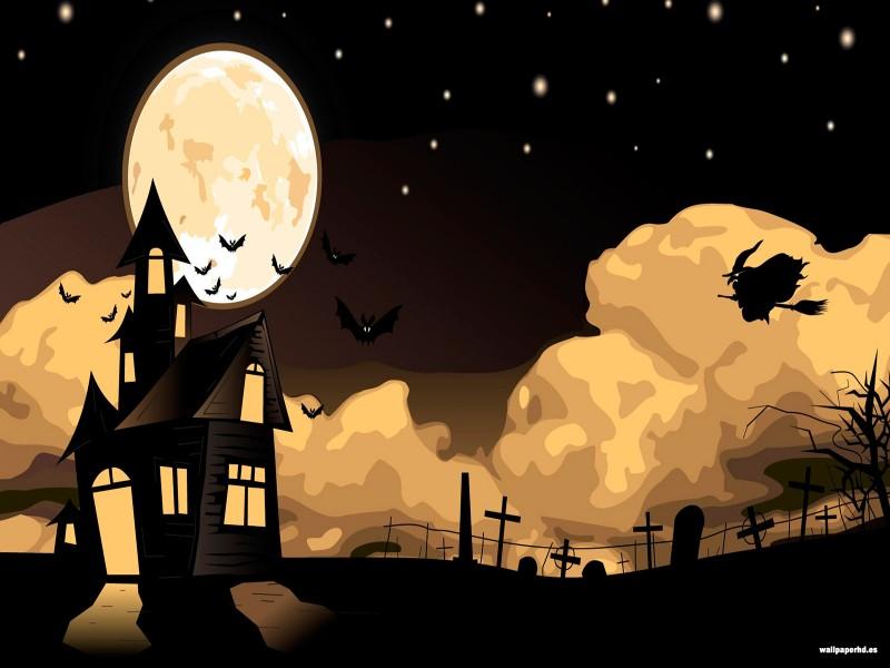 paisaje de halloween