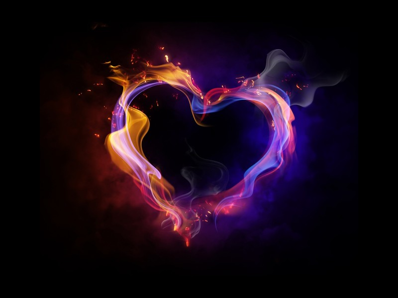 wallpaper hd - corazon de fuego
