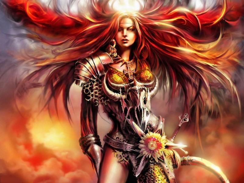 mujer guerrara de fantasia