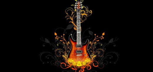 wallpaper hd con una guitarra electrica