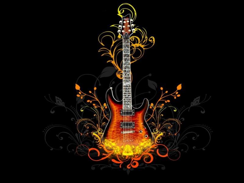 wallpaper hd con una guitarra electrica