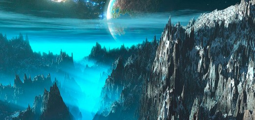 wallpaper hd con la vista del mundo entre riscos montañosos