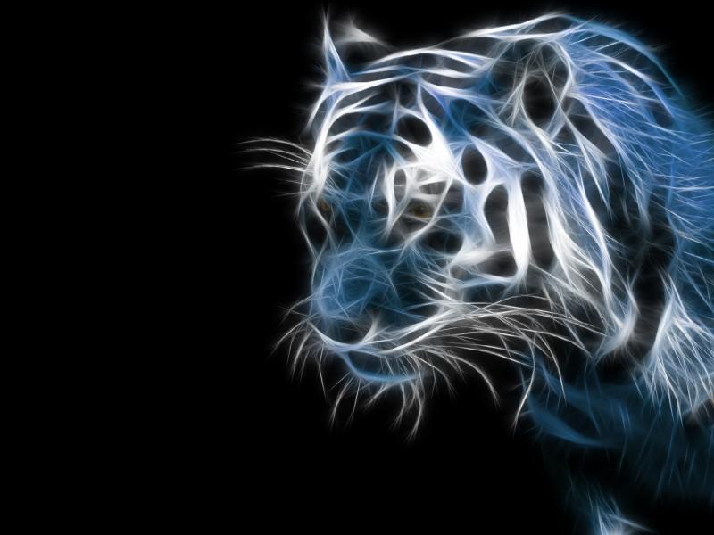 wallpaper hd en 3D de un tigre