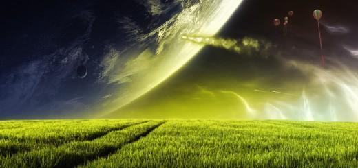 vista espectacular de la tierra