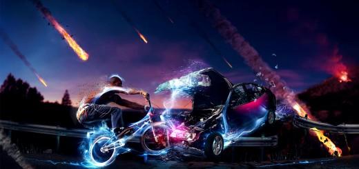 cochoque entre bici y coche