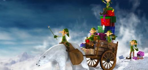 wallpaper de navidad con duendes