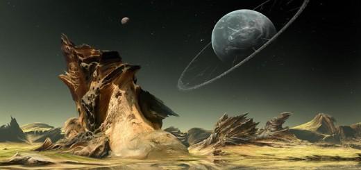 escena espacial de fantasia