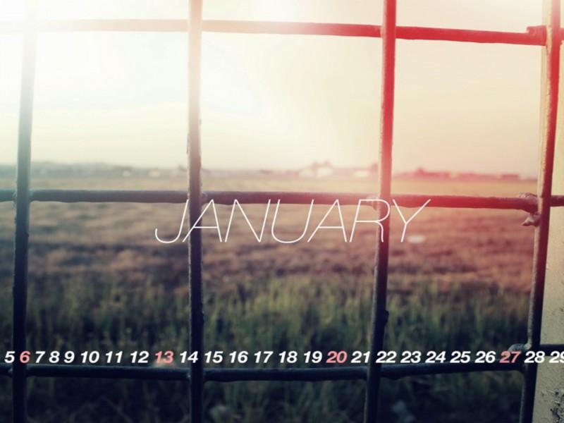 calendario mes de enero wallpaper hd